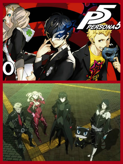 Persona 5 The Animation. And دن Breakers Anime.