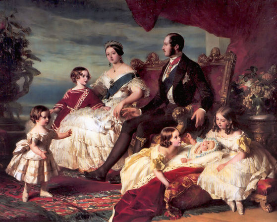 reyna Victoria, Prince Albert and their children.
