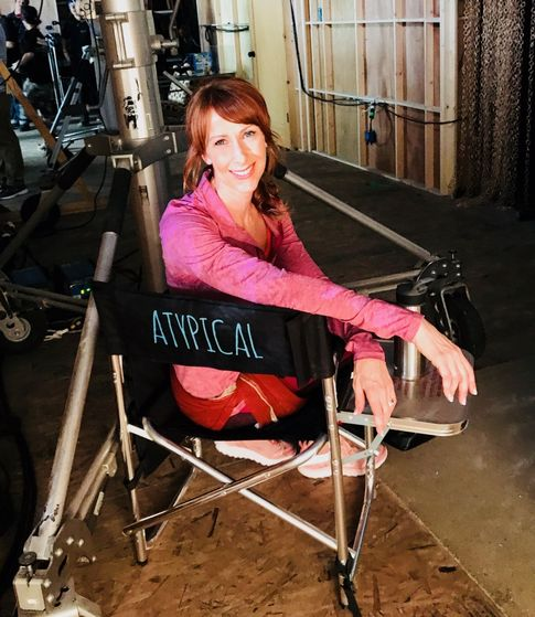 "Wendy Braun on-set ""Atypical"""