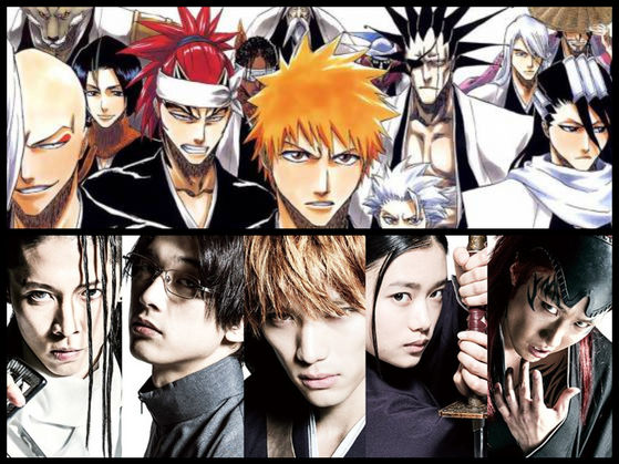 Bleach জীবন্ত and Live Action Movie.