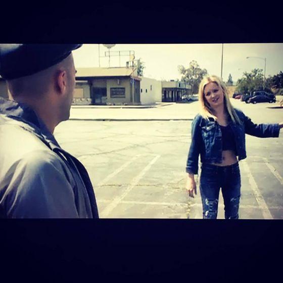 "Jessica Dowdeswell in ""Los Angeles Overnight"""