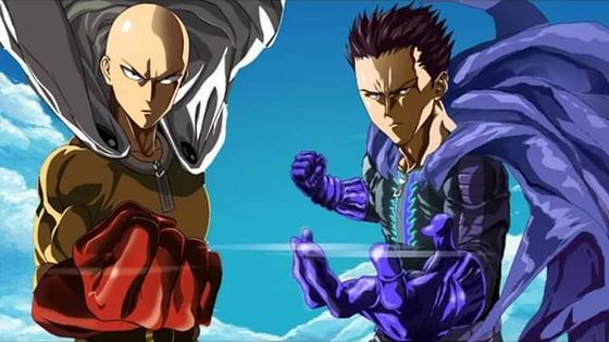 One cú đấm Man Saitama and Blast.