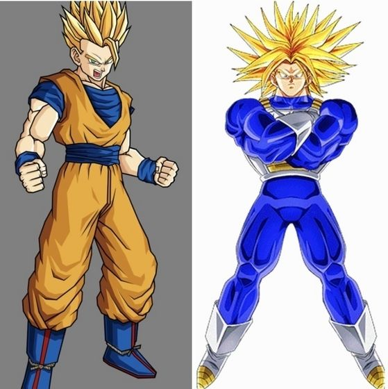 Super Saiyan 2 Gohan, Super Vema ( Gohan and Vema gear up in their father's gear to fight against Majin Buu Family.)