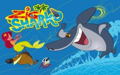 Another classic Zig and Sharko poster.