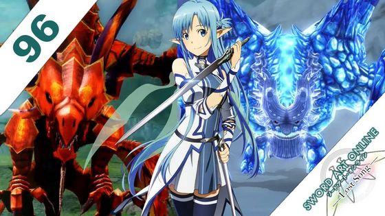 Sword Art Online Lost Song Blue Hair Asuna Yuuki.