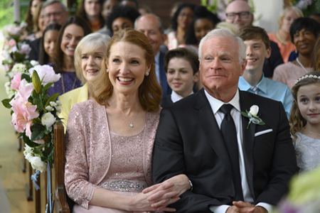 "Nicole Stanton and David Keith in ""Wedding At Graceland"" (credit: Hallmark)"