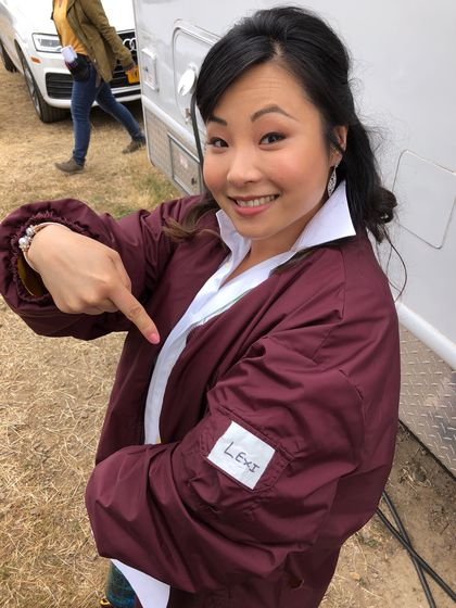 "Helen Madelyn Kim on set of ""American Princess"""