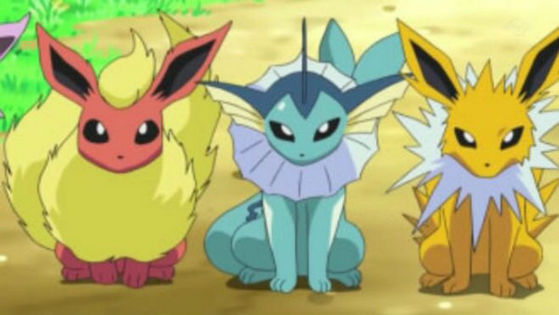23., 22., and 21. - Flareon, Vaporeon, and Jolteon - Just like the Johto starter trio, the Eevee evolution trio of Flareon, Vaporeon, and Jolteon is another trio i want to see POP figures of.