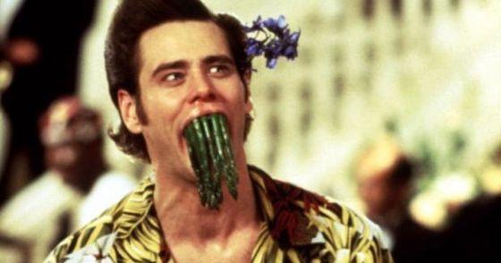 Jim acting the fool in Ace Ventura