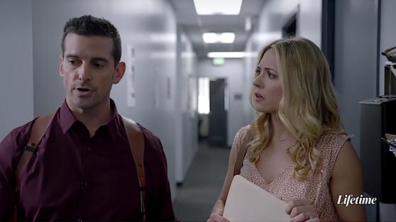 """Matt Shevin and Brooke Nevin in """"Her Secret Family Killer"""""""