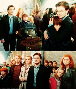 At the end of Deathly Hallows part 2 there's a 19 years later scene. (There's also a chapter called 1