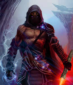 "Name: Darth Shadowstep Real name: Forrak Kosad (Foe-rack Koe-sod) Race: Zabrak Appearance: 6'7"" wi"