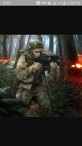 Alligence: Rebel Alliance Name: Sonus Skystar Weapon:A280c Blaster Rifle Description: He is 6'3 23