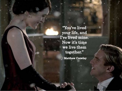 dia 29: What ship had the best proposal? - Matthew and Mary ( Downton Abbey) I never watched it bt