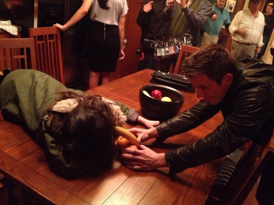 90210 Assistant @90210Assistant I promised @MattLanter I wouldn't make any jokes about his banana