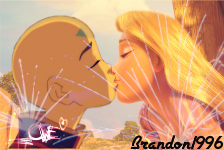 here is mine!!! Aang and Repunzle fall in love