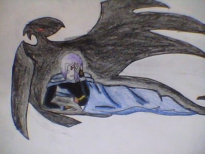 My fave character is raven. I've been drawing her for a whole año hope u like the pic. sorry about t