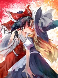 ^ Hah! XD I know for a fact I was a perv as a child. Reimu Hakurei and Marisa Kirisame.