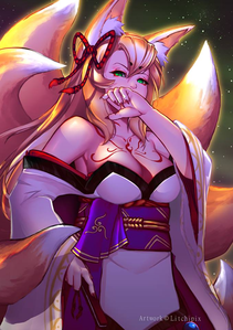 Tamamo no Mae from Monster Girl Quest !!!!
