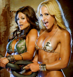 Michelle McCool and Eve Torres