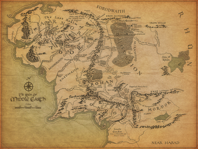 Middle-Earth's map XD I say sensitive, 你 think?