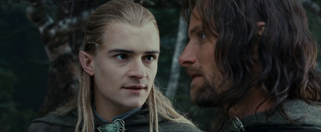 Legolas the pessimistic and Aragorn the optimistic I say bow and arrows, u think?