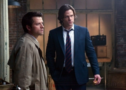Sam with castiel