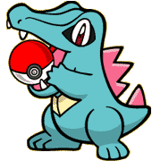 Day 3 favorite starter Pokemon: Totodile 