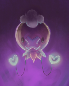 "দিন 06: Most terrifying Pokemon :Drifloon Driftloon: ""It is whispered that any child who mistakes"