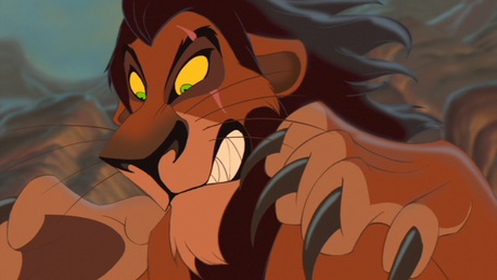 His voice and his evilness. Scar is the best Disney villain.