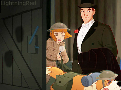 Mine. Jane as Sherlock Holmes and Dimitri as Watson.