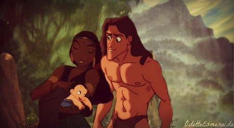 One of my favoriete Non/Disney couples. Tzipporah, Tarzan and their son who I thought should be named