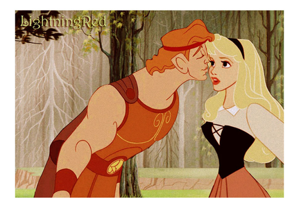 Aurora got a surprise Ciuman from Herc. Wonder who took the picture?