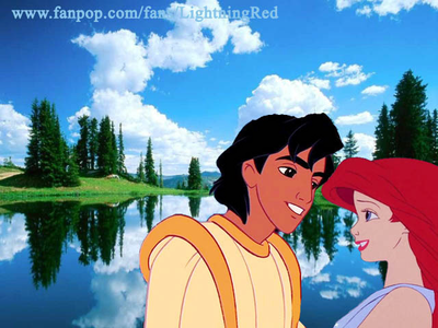 Aladdin and Ariel
