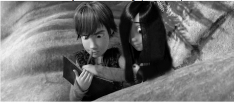 Hiccup is sketching, and Vi is watching. I love this couple! xxxx
