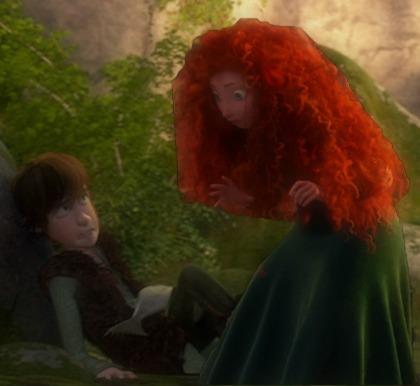 I failed Merida's hair. Oh well.