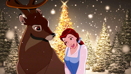 The Prince and Belle are filled with Krismas cheer. :) One of my kegemaran crossover couples. ^^ ♥