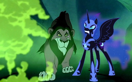 mine: Scar (Lion King) and Nightmare Moon (My little pony)
