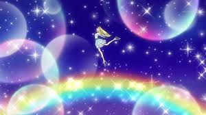 Bell: *rears up for a jump* *leaps in to air with a light gleaming around her* Aurora RainBow dream!