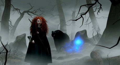 Here :) Now find a picture of Merida with the villain of the film.