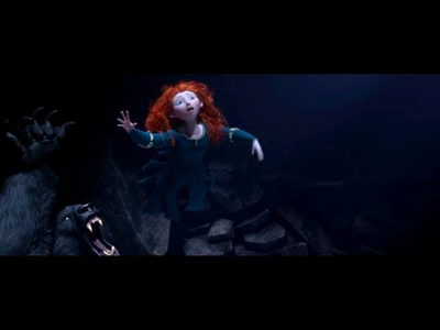 Now find a picture of Merida eating.