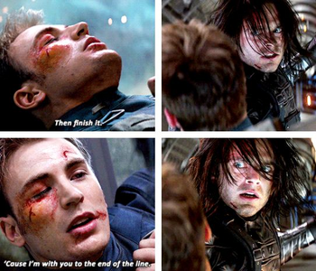 [b]Day 14: Saddest Moment [i][url=https://www.youtube.com/watch?v=c-U-x-okaXA]Bucky beating Steve