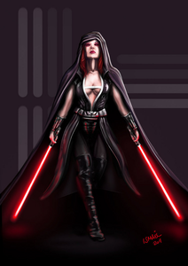NAME: Darth Zarrah (or Lady Zarrah) ABILITIES: Choke, Force push SITH ou JEDI: Sith LIGHTSABER COL