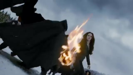 Bella about to set fire to Aro in BD 2