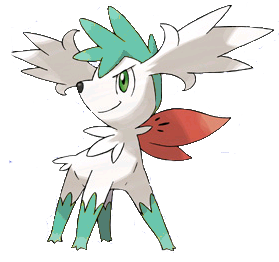 Misty: ( walks up to lilly ) Hi there. ( shaymin latches onto lilly's leg ) Shaymin!