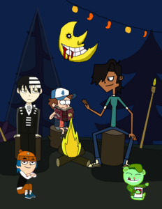Shiftara: Probably because of this... ( shows picture) See? ( Points to the guy with the black suit )
