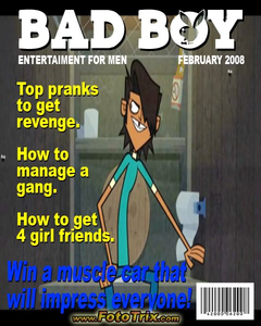 Mike: ( looks at a different magazine and frowns )
