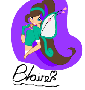 Blaire! I worked too much on your guys's characters I forgot all about mine!:S