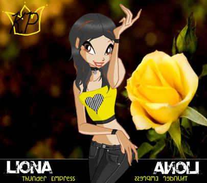 Name:Liona Status: Fairy  Planet: Pluneta  Power: Energy, Electricity Associated Pixie  Emily, Pixie