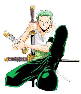 not really zoro from one peice